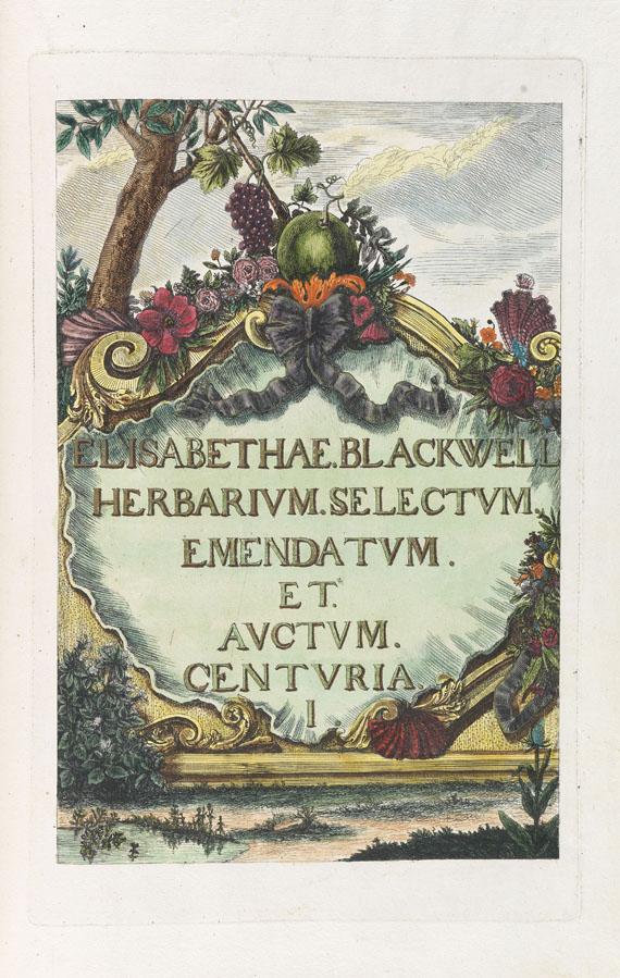 Elisabeth Blackwell - Herbarium Blackwellianum. 1748-75. 6 Bde.