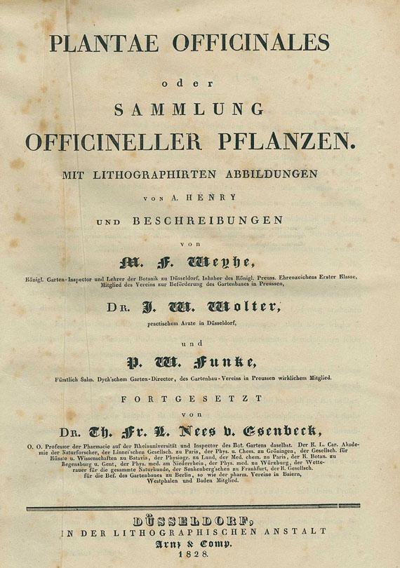Theodor Friedrich Ludwig Nees von Esenbeck - Sammlung offizineller Pfllanzen. 1828-33. 5 Bde.
