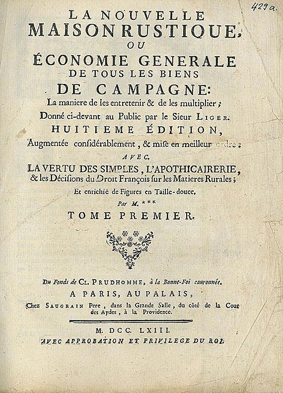 Botanik - Französische Botanik. 10 Bde.