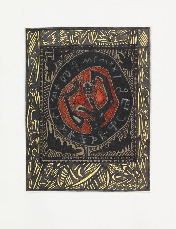 """Alexei Michailowitsch Remisow - Sammlung zu """"Les sceaux"""". 1956"""