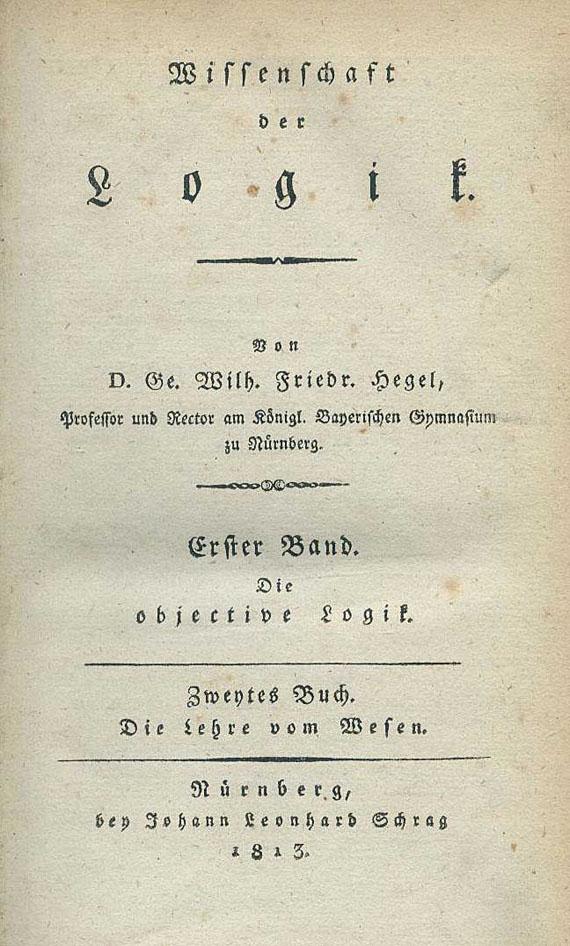 Georg Wilhelm Friedrich Hegel - Wissenschaft der Logik. Bd. I, 2: Die Lehre vom Wesen