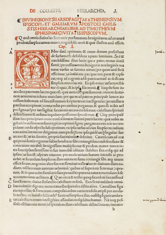 Dionysius Areopagnita - Caelestis hierarchia