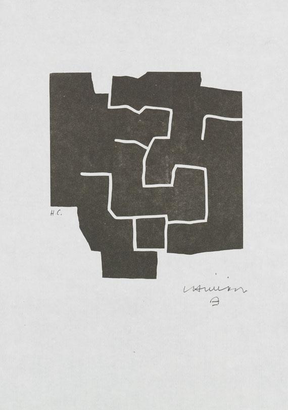 Eduardo Chillida - Edition Eduardo Chillida. Mit sign. Orig.-Holzschnitt