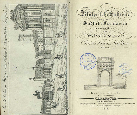 Christian Friedrich Mylius - Malerische Fußreise. 4 Bde und 1 Tafelbd.