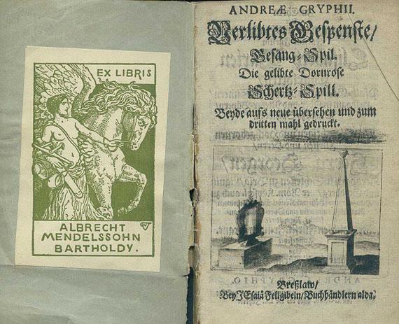 Andreas Gryphius - Verlibtes Gespenste