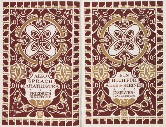 Henry van de Velde - Nietzsche, Friedrich, Also sprach Zarathustra