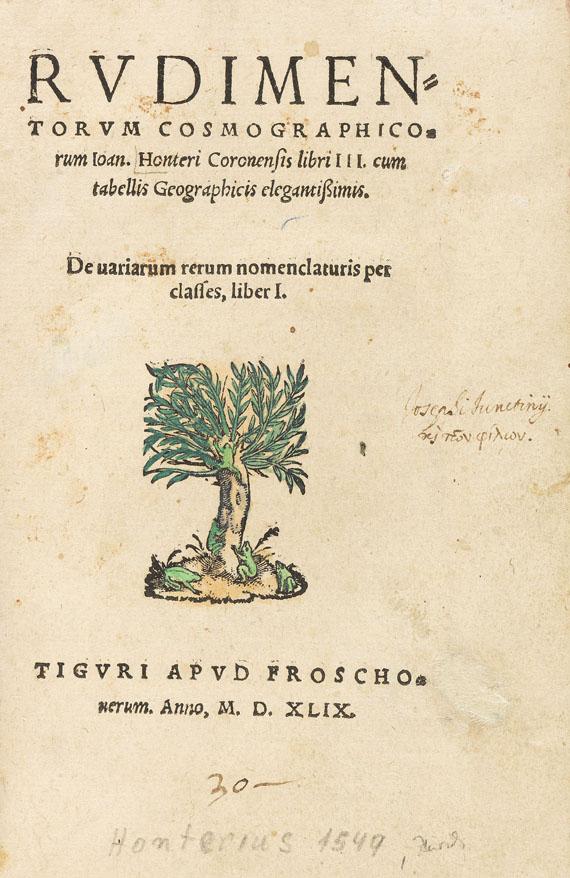 Johannes Honter - Rudimentorum Cosmographicorum libri III. - Weitere Abbildung