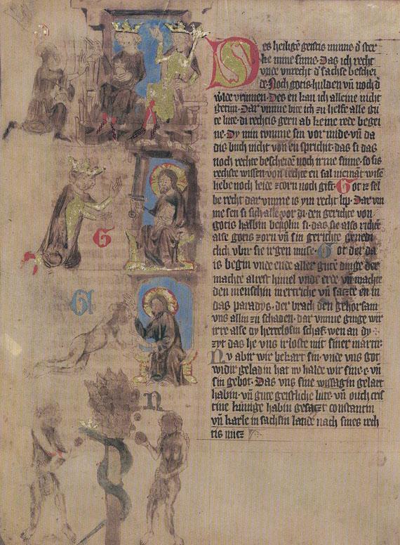 Dresdner Sachsenspiegel - Dresdner Sachsenspiegel. 3 Bde.