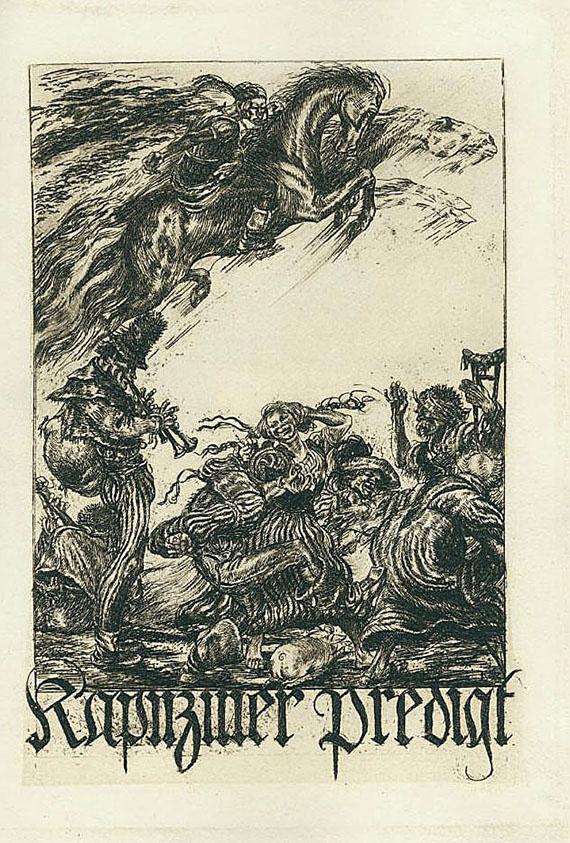 Nibelungendruck - Schiller, Kapuziner Predigt, Illustr. Kolb, Alois