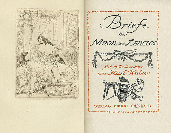 Karl Walser - Briefe der Ninon de Lenclos