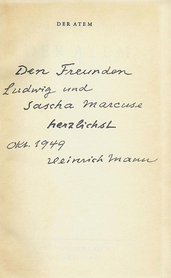 Heinrich Mann - Der Atem - Dabei: Die Vollendung d. Königs Henri Quartre