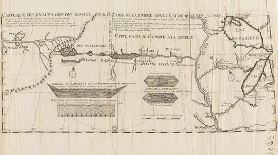 Amerika - 1 Bl. Carte que les Gnacsitares (L. A. de Lahontan).
