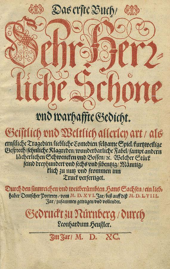 Hans Sachs - Sehr herrliche Schöne und wahrhaffte Gedicht. 1590