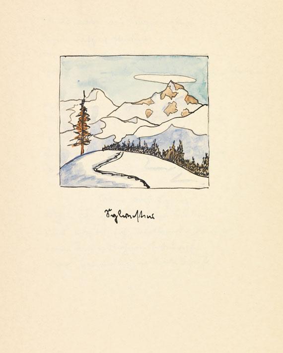 Hermann Hesse - Zwölf Gedichte. Manuskript mit Aquarellen. 1932. - Weitere Abbildung