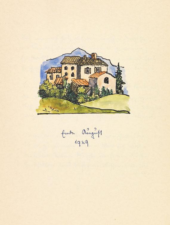 Hermann Hesse - Zwölf Gedichte. Manuskript mit Aquarellen. 1932.
