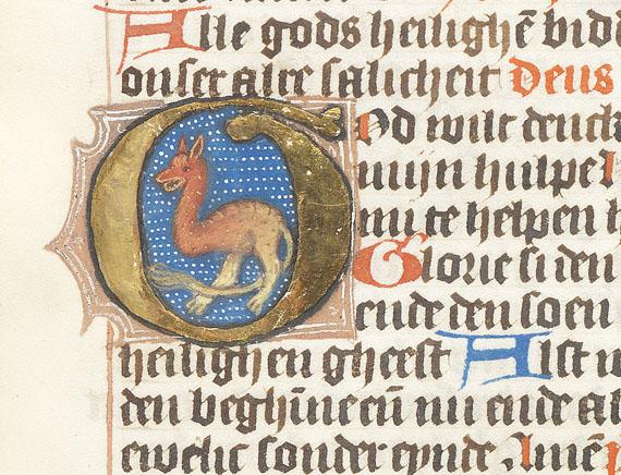 Manuskript - Niederländisches Stundenbuch auf Pergament. Um 1470 -