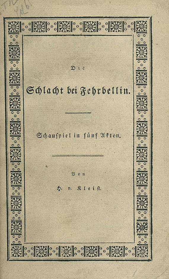 Heinrich von Kleist - Schlacht bei Fehrbellin