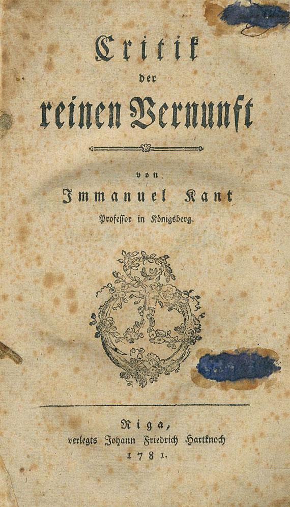 Immanuel Kant - Critik der reinen Vernunft