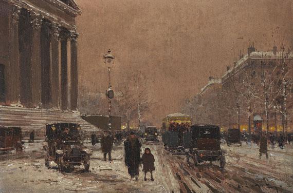 Edouard Léon Cortès - Paris - Place de la Madeleine im Winter