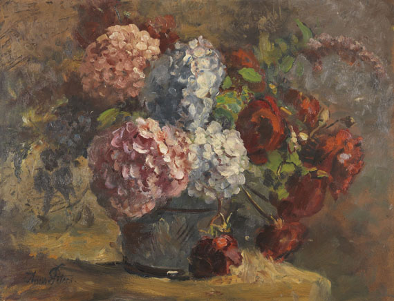 Anna Peters - Hortensien und Rosen