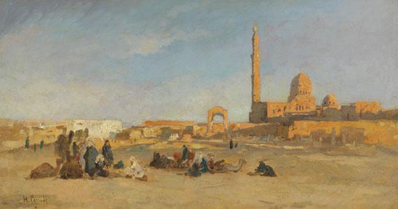 Hermann Corrodi - Blick auf die Kalifengräber von Kairo