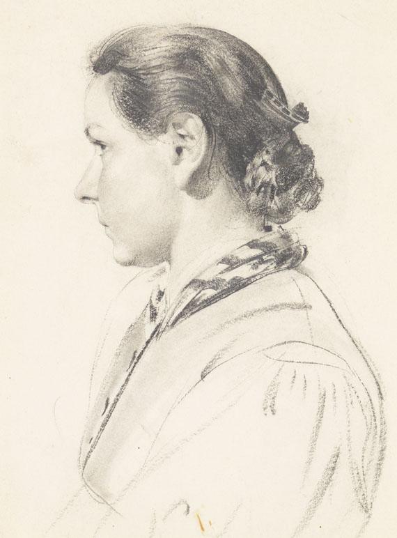 Konrad Böse - Junge Frau im Profil