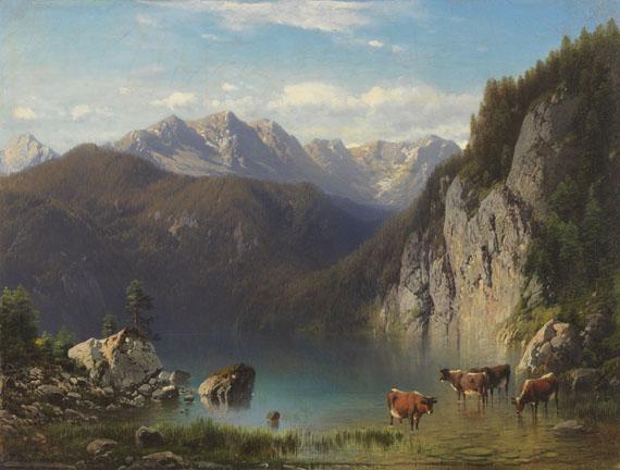 Carl Millner - Der Alpsee bei Hohenschwangau