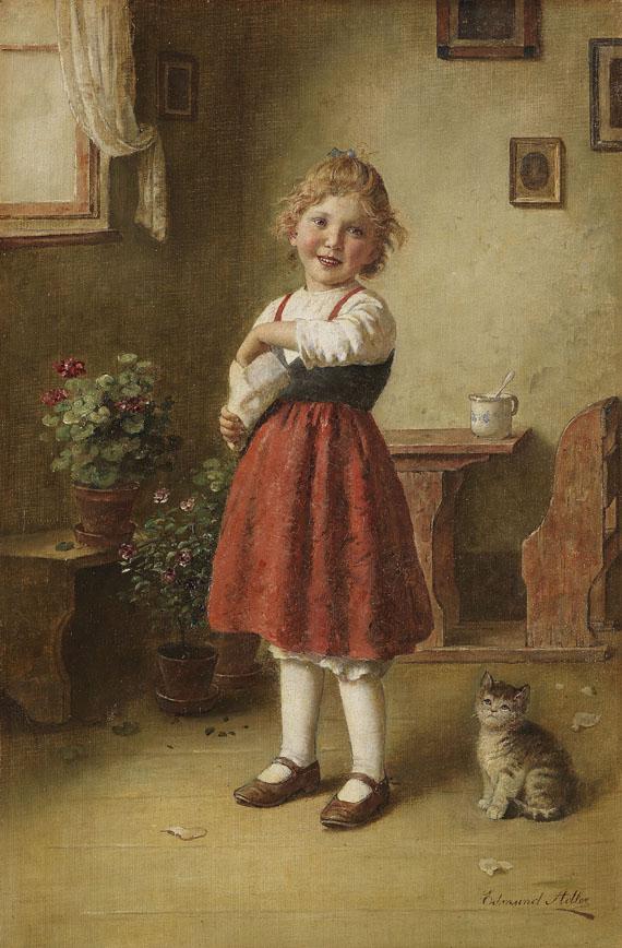 Edmund Adler - Mädchen mit kleiner Katze