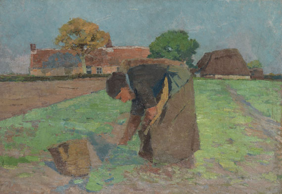 Henry van de Velde - Die Kartoffelausmacherin (Bäuerin auf dem Felde)