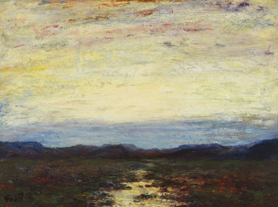 Albert Lorey Groll - Sonnenuntergang über weiter Landschaft