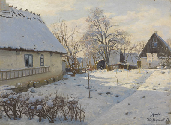Peder (Peder Mørk Mønsted) Mönsted - Winter in Bröndbyvester in Dänemark