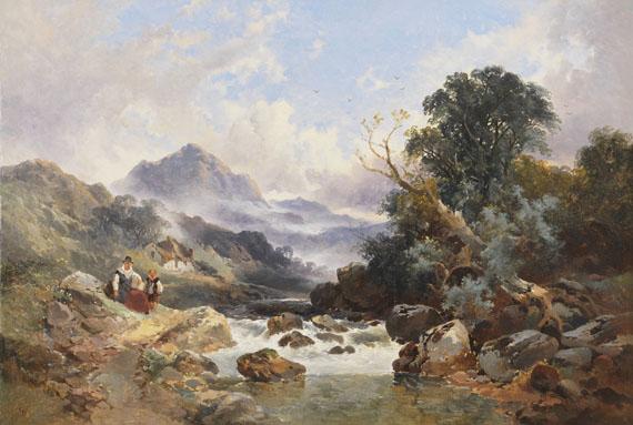 Joseph Horlor - Walisische Berglandschaft