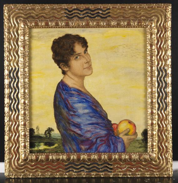 Franz von Stuck - Porträt Frau von Stuck - Frame image