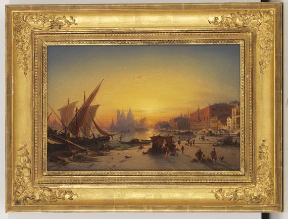Ludwig Mecklenburg - Venedig im Abendlicht - Rahmenbild