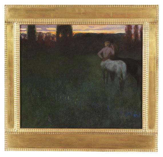 Franz von Stuck - Sonnenuntergang - Rahmenbild