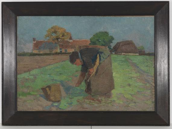 Henry van de Velde - Die Kartoffelausmacherin (Bäuerin auf dem Felde) - Frame image