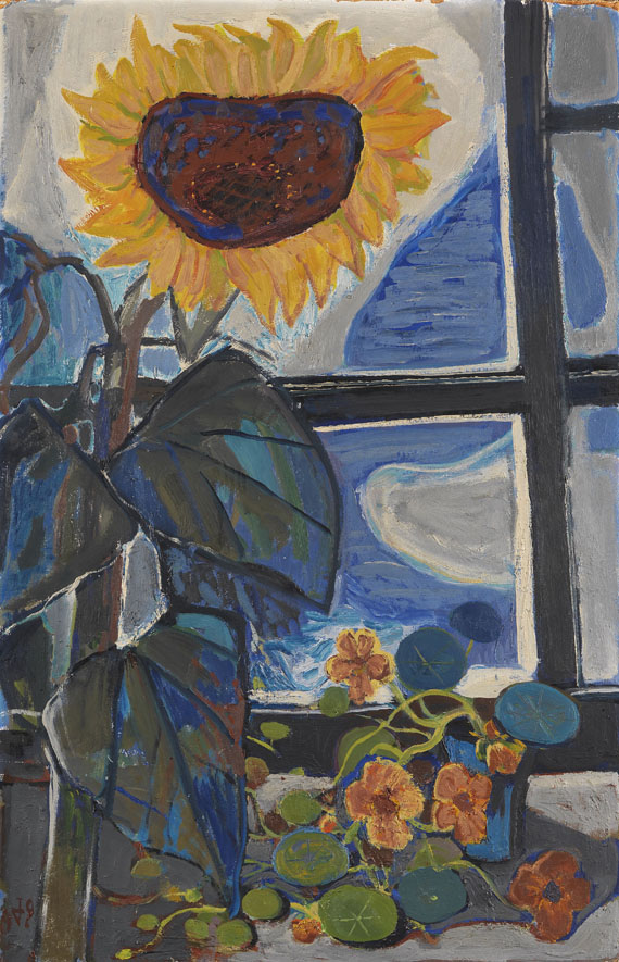 Otto Dix - Sonnenblume am Atelierfenster