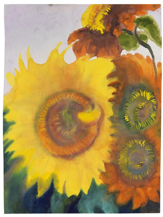 Emil Nolde - Sonnenblumen