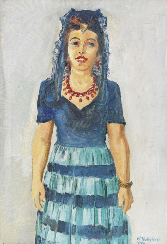 Hermann Max Pechstein - Bildnis Freda Wermel in spanischer Tracht