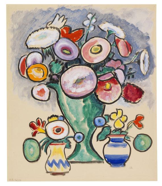 Gabriele Münter - Blumenstillleben (Strauß mit zwei Sträußchen)