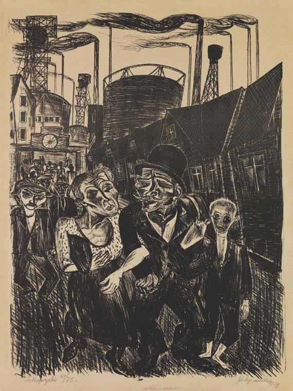 Conrad Felixmüller - Im Kohlerevier (Heimkehr der Kohlenarbeiter)