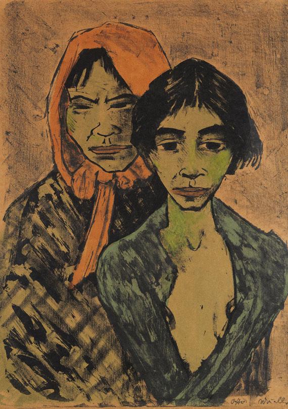 Otto Mueller - Zwei Zigeunerinnen (Zigeunermutter mit Tochter)