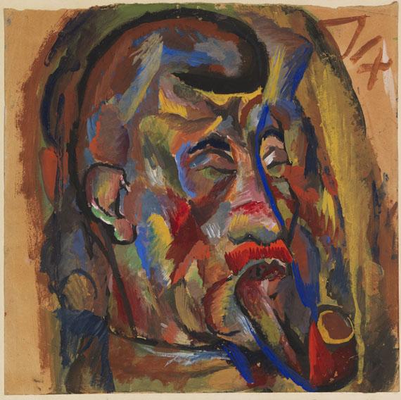 Otto Dix - Porträt eines Pfeiferauchenden