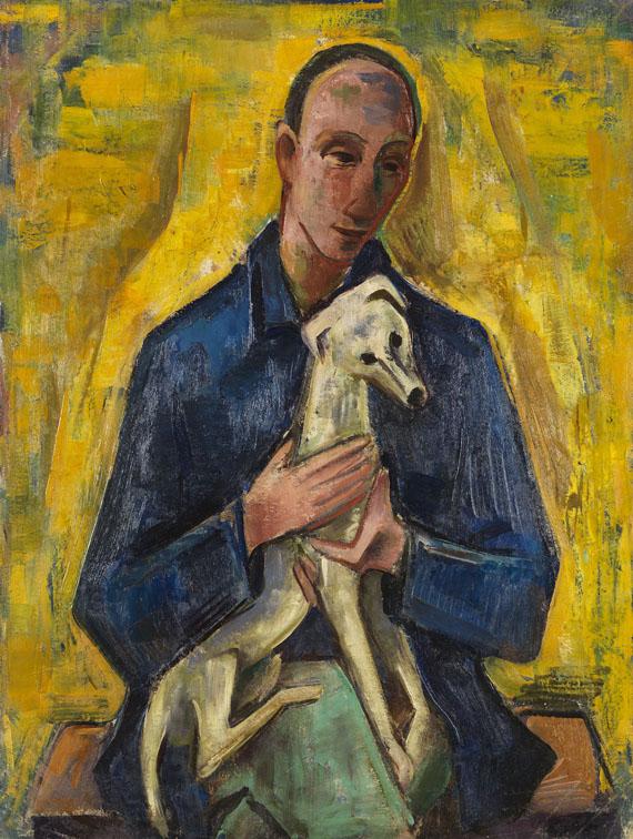 Karl Hofer - Mann (Jüngling) mit Hund