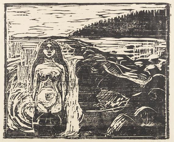 Edvard Munch - Badendes Weib