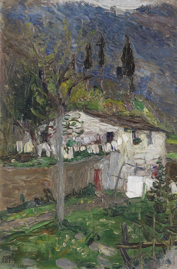 Gabriele Münter - Rapallo (Hütte in Bergen)
