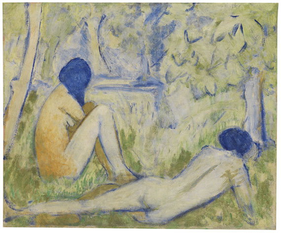 Otto Mueller - Zwei Mädchen auf der Waldwiese/Zwei Akte auf Waldwiese/Im Gras