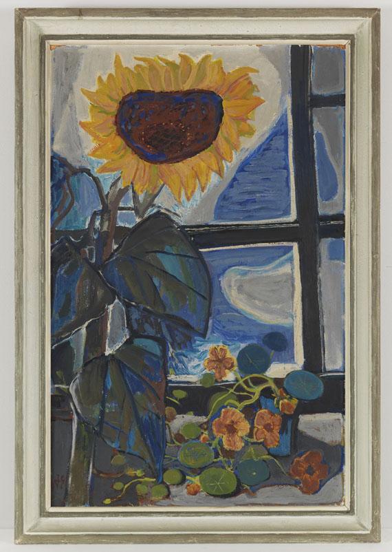 Otto Dix - Sonnenblume am Atelierfenster - Frame image