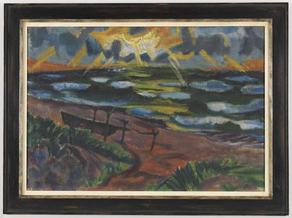 Hermann Max Pechstein - Stürmisches Wetter an der Ostsee (Beschienene Wellen) - Rahmenbild
