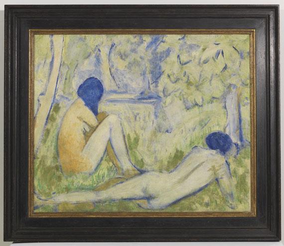 Otto Mueller - Zwei Mädchen auf der Waldwiese/Zwei Akte auf Waldwiese/Im Gras - Rahmenbild